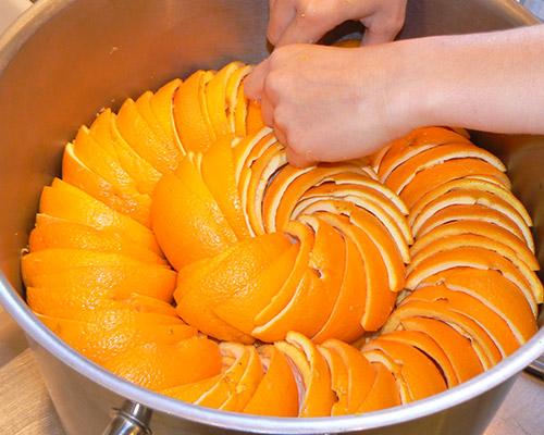 ecorces oranges rnagées