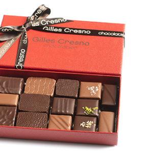 boîte chocolat noel en ligne artisanale