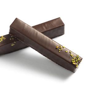 pâte d'amande pistache noir chocolat