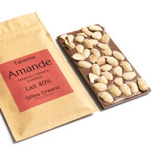 tablette chocolat amande en ligne artisanale