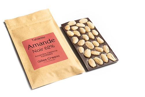 tablette amande chocolat en ligne artisanale