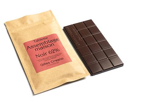 chocolat carré noir