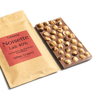 tablette chocolat noisette en ligne artisanale