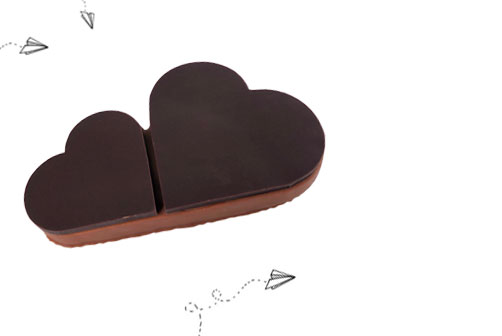 cœur chocolat noir