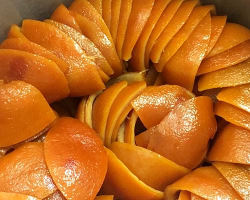 oranges confites maison chocolat