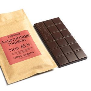 Tablette de chocolat maison 65%