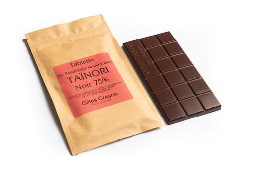 Tablette de chocolat Taïnori 75%