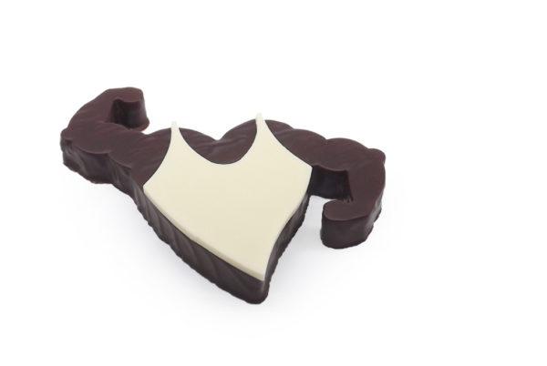 Bouchée musclor au praliné noisette au chocolat noir